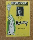 Harvey programme 1949 play by Mary Chase Sid Field Prince of Wales Theatre